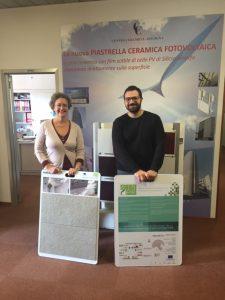 ECO TILES delegate Francesco Radica and WINCER Elisa Rambaldi at Ceramic Center Bologna